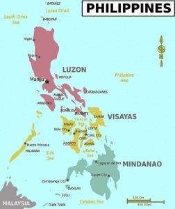 Philippines Negros Map